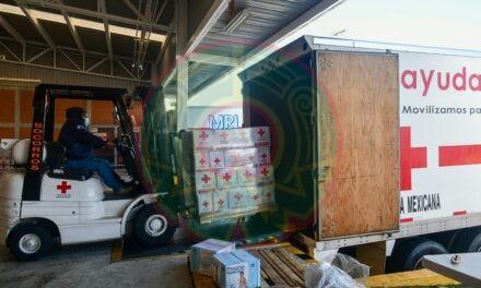Envía Cruz Roja 13 toneladas de ayuda para familias afectadas en Veracruz