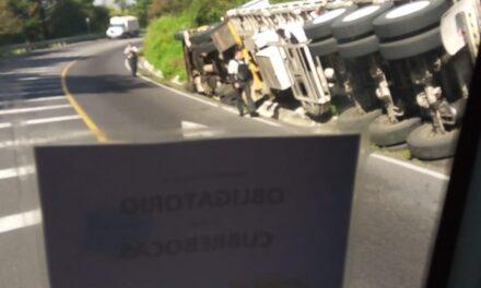 Accidente en la carretera Xalapa- Las Vigas