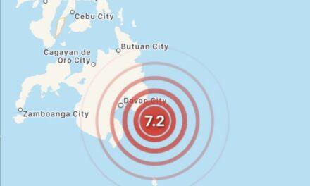 Sismo de magnitud 7.2 se registra en Filipinas: SHOA descarta riesgo de tsunami para Chile