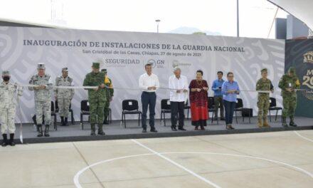 López Obrador inaugura cuartel de la Guardia Nacional en Chiapas