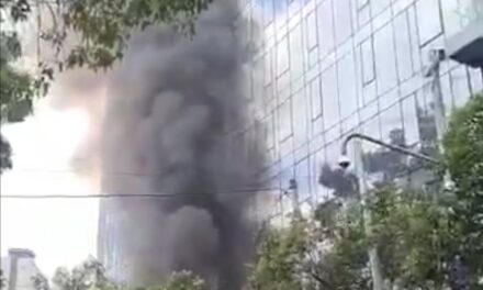 Se registra incendio en edificio Be Grand de la CDMX