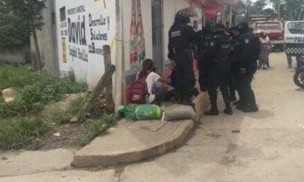 Mujer agredida por sujeto en la colonia La Haciendita en Xalapa