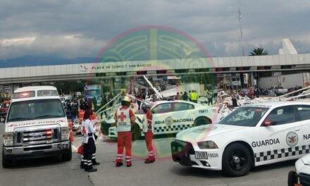 Choca tráiler contra varios vehículos en autopista México – Puebla, hay tres muertos