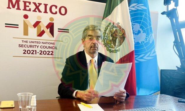 México denuncia en la ONU: El tráfico ilícito de armas pequeñas y ligeras es una  amenaza para la paz y la seguridad internacionales.