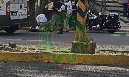 Motociclista de Coppel accidentado en el Arco Sur, Xalapa