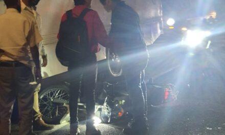 Motociclista lesionado en la avenida Ruiz Cortines, Xalapa
