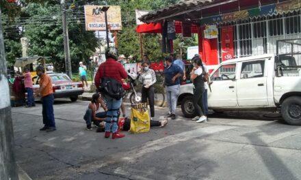 Mujer atropellada en Coatepec