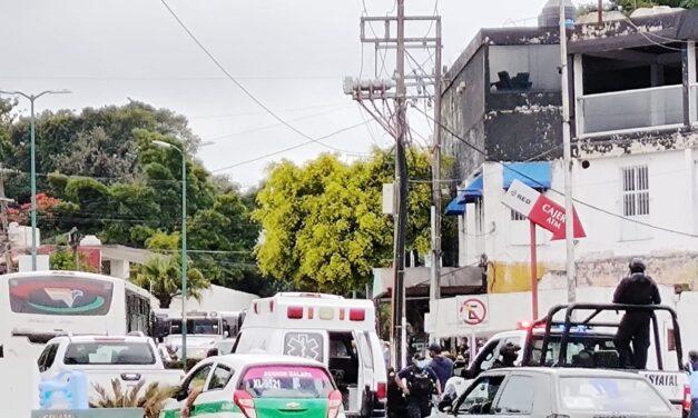 Accidente de tránsito sobre la avenida 20 de Noviembre, a la altura de Palo Verde