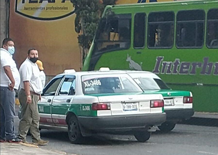 Choque de taxistas en la zona de Los Sauces