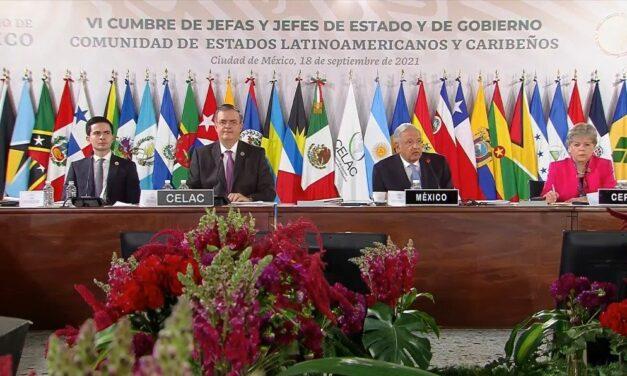 AMLO inaugura la VI cumbre de la CELAC en Palacio Nacional