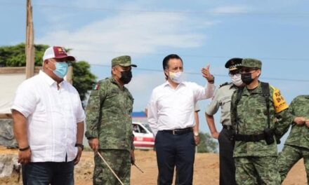 Cuitláhuac García supervisó avances en Cuartel de Guardia Nacional, en Sayula de Aleman