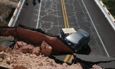 Se desploma puente en la carretera Cerritos-Tula; reportan una mujer muerta y varios lesionados