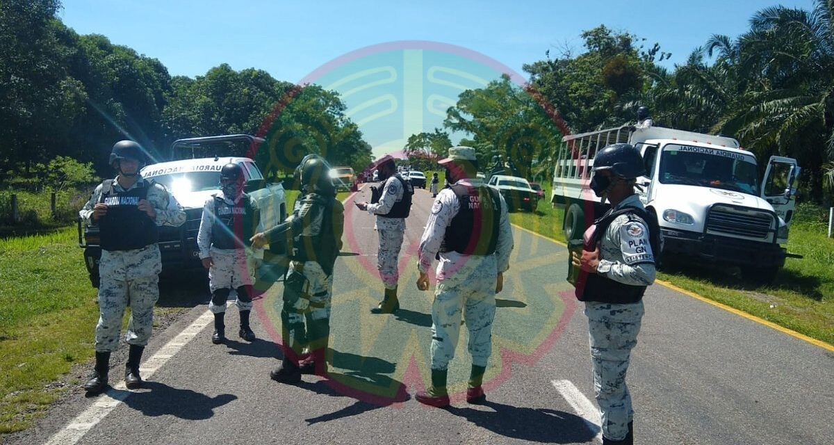 Guardia Nacional e INM interceptan a migrantes en Chiapas