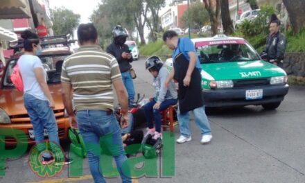Accidente de tránsito sobre la Avenida Pípila, Xalapa