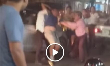 Video: Pelea entre ocupantes de taxi y vehículo particular en la avenida Xalapa en el puerto de Veracruz