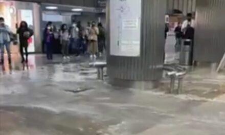 Video: Reportan inundaciones en el AICM tras fuerte lluvia