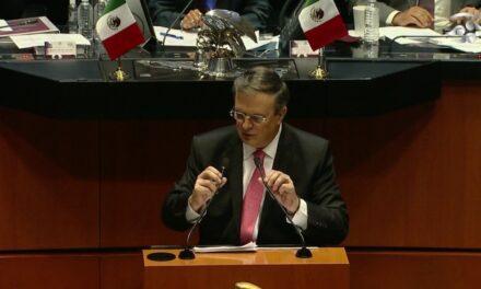 Video: Marcelo Ebrard destaca, durante comparecencia ante el Senado, buena relación con el gobierno de Biden