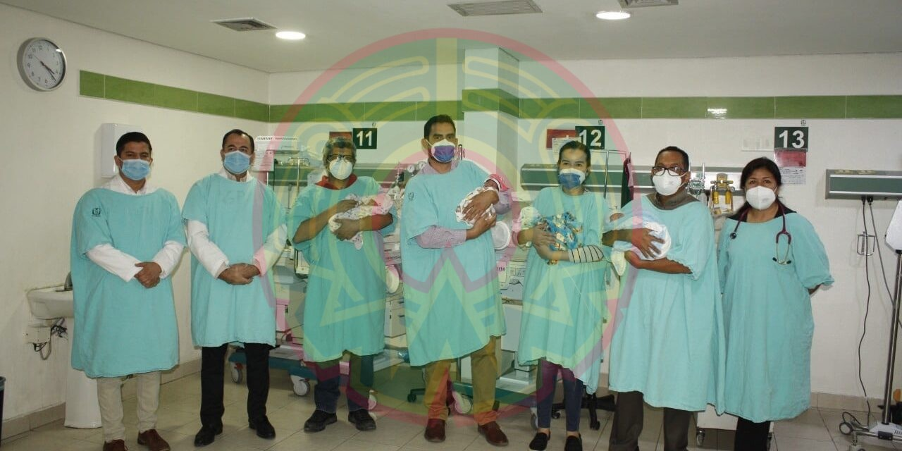 Nacen cuatrillizos en hospital del IMSS en Hermosillo, Sonora