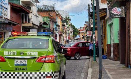 Accidente de tránsito en la calle Allende, Xalapa