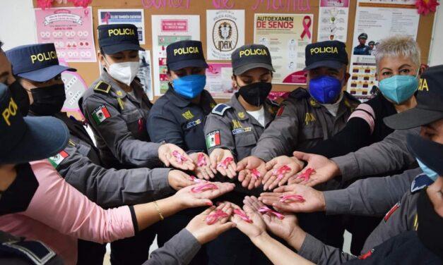 Realiza IPAX pláticas de prevención del cáncer de mama a sus policías