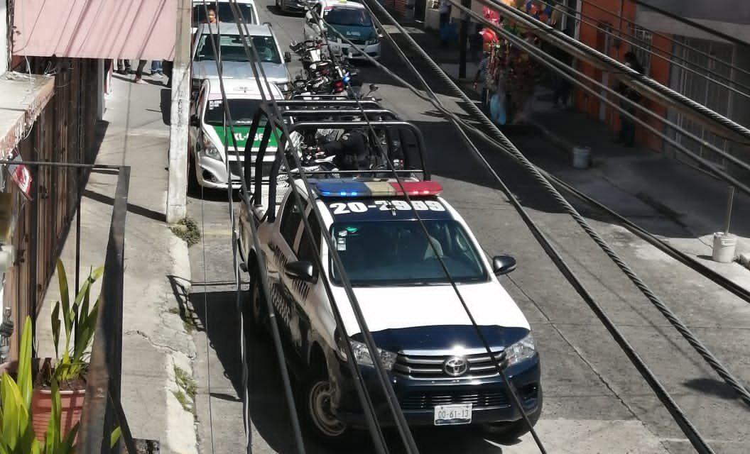 Movilización policiaca por persona sin vida en el centro de Xalapa