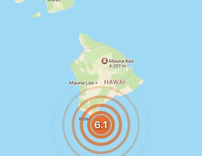 Un sismo de 6,2 se registra frente a las costas de Hawái