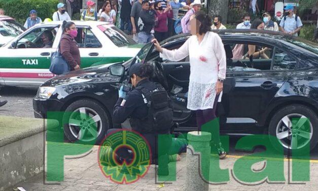 Persona agredida a balazos en el centro de Xalapa