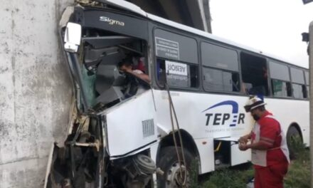 Conductor de camión prensado en accidente sobre la carretera Veracruz – Xalapa